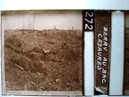 Guerre 1914-18 - Berry-au-Bac - Cadavres - Plaque De Verre StéréoscopiqueTBE - Plaques De Verre