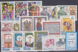 Vatican Année Complète 1985 XX : Poste N° 770 à 785 : Les 16 Valeurs Sans Charnière, TB - Annate Complete
