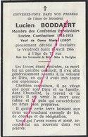 En 1966 Oxelaêre- (59) Lucien BODDAERT Confréries Paroissiales-ancien Combattant Guerr 1914 - Décès