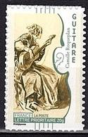 ADH 72 - FRANCE Adhésifs N° 393A Neuf** Musique La Guitare Support Blanc Dent. 11 - Frankreich