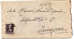 Carta Con Censura Militar Logroño De 1939 Direccion Zaragoza. - 1931-50 Cartas