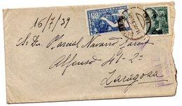 Carta Con Censura Militar Logroño De 1939. - 1931-50 Cartas