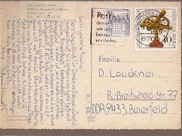 Germany  & Circulated, Ludwigshafen Friedrich Ebert Halle, Ludwigshafen Am Rhein To Beierfeld D.D.R 1992 (978) - Storia Postale