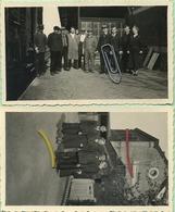 Ellezelles :  Dans La Gare : 2 Vieux Photo11.5 X 7 Cm - Ellezelles