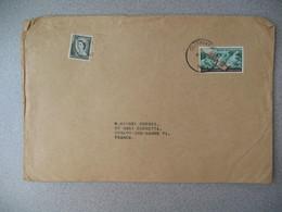 Nouvelle-Zélande Sunny Rea  1967   Lettre pour La France - New Zealand Cover Timbre Santé Reine Télégraphe Queen - Nouvelle-Zélande