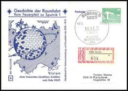 8692/ Espace (space Raumfahrt) Lettre (cover Briefe) 18/12/1981 Geschichte Der Sputkik 1 Allemagne (germany DDR) - Covers & Documents