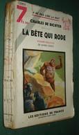 Coll. A NE PAS LIRE LA NUIT N°105 : La Bête Qui Rôde //Charles De Richter (Mark-Cross) - Editions De France 1937 - Livres, BD, Revues