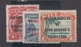 NIUE         1935           N. 56 / 58       COTE   13 , 50     EUROS     ( W 33 ) - Niue