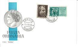 ITALIA 1966 - BENEDETTO CROCE - FDC - 6. 1946-.. Republic
