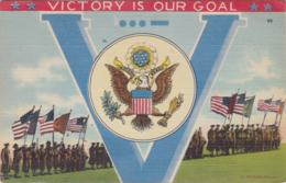 Postcard Victory Is Our Goal Posted Sikes, LA 1943 (G56-91) - Militaria