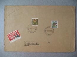 Nouvelle-Zélande Whenuapai Village 1968 Lettre pour La France - New Zealand Cover Timbre Fleur + Vignette Easter 1968 - Nouvelle-Zélande