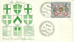 ITALIA 1966 - 100° DELL'UNIONE ALL'ITALIA  - FDC - 6. 1946-.. Repubblica