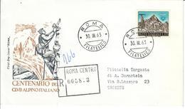 ITALIA 1963 - 100° C.A.I. CLUB ALPINO ITALIANO  - FDC - 6. 1946-.. Repubblica