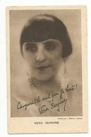 PUB CAMPARI - Autographe (Impression Autographique De Vera SERGINE (1884-1946) Actrice, épouse De Pierre RENOIR - CPA - Cartes Postales
