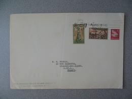 Nouvelle-Zélande Masterton 1966 Lettre Royal Philatelic Society  pour France - New Zealand Cover Fleur Santé Health - Nouvelle-Zélande