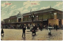 CPA - Bucuresti - Hala Ghika - 1912 Nach Berlin Allemande - Romania