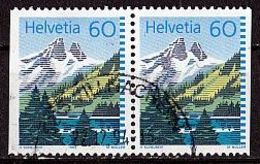 SCHWEIZ Mi. Nr. 1489 I Dl/Dr O Waagrechtes Paar (A-4-1) - Switzerland