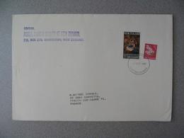 Nouvelle-Zélande Masterton 1967 Lettre Postal History Societypour France - New Zealand Cover Noël Christmas - Nouvelle-Zélande
