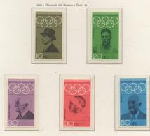 PIA - GERMANIA  - 1968  : Giochi Olimpici Di Città Del Messico  - (Yv 426-30) - Zomer 1968: Mexico-City