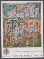 """Vatican BF N° 12 XX : 40éme Anniversaire De La Fondation De """"Caritas Internationalis"""",  Le Bloc Sans Charnière, TB - Blocks & Kleinbögen"""
