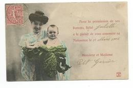 CPA Faire-Part De Naissance - Bébés
