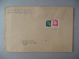 Nouvelle-Zélande Masterton 1967 Lettre Postal History Societypour France - New Zealand Cover Fleur - Nouvelle-Zélande