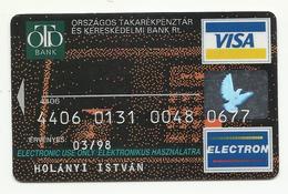 Hungary, OTP Bank, ATM, Exp. Date 1998 - Cartes De Crédit (expiration Min. 10 Ans)