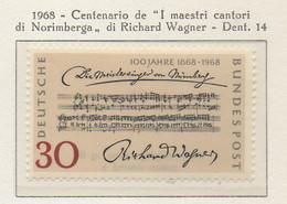 "PIA - GERMANIA - 1968  : Centenario De ""I Maestri Cantori Di Norimberga"" Di Richard Wagner   -  (Yv 431) - Musica"