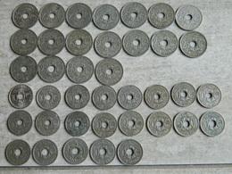 LOT DE PIECES LINDAUER 1918 à 1939  25 Centimes Et 10 Centimes (39 Unités) - Francia
