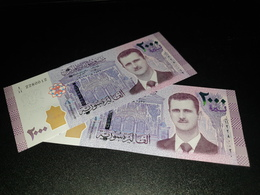 SYRIA 2000 POUNDS 2015. UNC - LOT 2 PCS - Syria