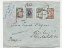Bulgaria WWI Censored Letter Cover Travelled Registered 1915 Sofia To Nürnberg B190701 - Cartas