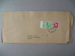 Nouvelle-Zélande Masterton 1968 Lettre  pour France - New Zealand Cover Fleur Jeux Olympiques Health - Nouvelle-Zélande