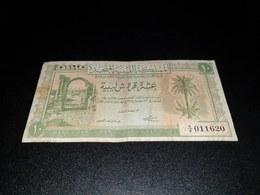 LIBYA 10 PIASTRES 1951. VF - Libya