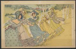 Ansichtskarte Jugendstil Künstler Handcoloriert Frauen Ungelaufen - Künstlerkarten