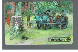 SVEZIA (SWEDEN) - TELIA  (CHIP) -  1993   CARL LARSSON, PAINTING             - USED - RIF. 10028 - Sweden
