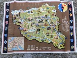 Dépliant Touristique Avec Plan Colorisé  - CARTE TOURISTIQUE LA PROVINCE D' AOSTE ( Blason ) - Dépliants Touristiques