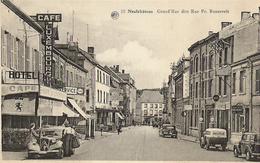 Neufchâteau - 10. Grand'Rue Dite Rue Fr. Roosevelt - Oldtimer 2 Citroën, 1 Camionnette Nestlé, Pompes Esso Et ? - Neufchâteau