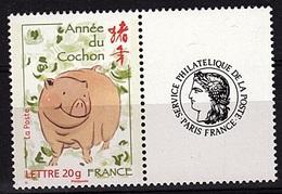 PERS 36 - FRANCE Personnalisés Cérès N° 4001A Année Du Cochon - France