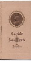 Petit Calendrier De Poche/ Religieux/ Saint Thérèse De L'Enfant Jésus/Edité Par L'Office Central De LISIEUX/1938  CAL441 - Tamaño Pequeño : 1921-40