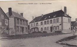 10. VILLEMAUR SUR VANNE .CPA.  LA MAIRIE ET LA PLACE.+ TEXTE  ANNEE 1920 - France