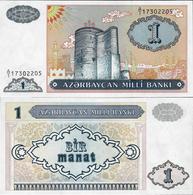 Azerbaijan 1993 - 1 Manat - Pick 14 UNC - Azerbeidzjan