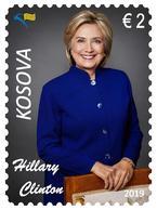 Kosovo Stamps 2019. 20th Ann. Freedom. HILLARY CLINTON: USA First Lady. Set MNH - Kosovo