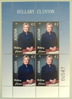 Kosovo Stamps 2019. 20th Ann. Freedom. HILLARY CLINTON: USA First Lady. Mini Sheet MNH - Kosovo