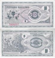 Macedonia 1992 - 10 Dinars - Pick 1 UNC - Macédoine