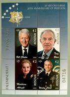 Kosovo Stamps 2019. CLINTON: USA President, BLAIR, ALBRIGHT, CLARCK: NATO. Souvenir Sheet, Set MNH - Kosovo