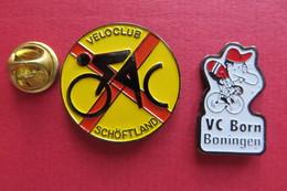 2 Pin's,Sport,Velo,VELOCLUB SCHÖFTLAND,VC BORN BONINGEN,Cyclisme,Bike,Suisse - Cycling