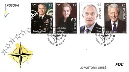 Kosovo Stamps 2019. CLINTON: USA President, BLAIR, ALBRIGHT, CLARCK: NATO. FDC Souvenir Sheet, Set MNH - Kosovo
