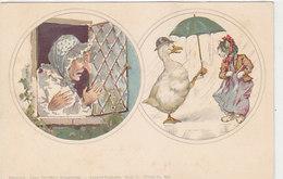 Katze Und Gans   - Theo Stoefers Aquarell-Postkarte    (190626) - Katzen