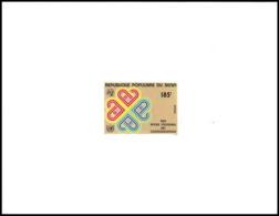 1363 épreuve De Luxe / Deluxe Proof BENIN N° 563 Année Mondiale Des Communications - Telecom