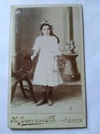 Photographie Ancienne CDV - Jeune Fille - Photo Jouve & Ses Fils, TLEMCEN, Algérie - BE - Photos